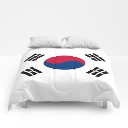 National flag of South Korea, officially the Republic of Korea, Authentic version - color and scale Comforters