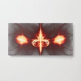Digitales Feuer 2, (symetric2020_006a) Metal Print