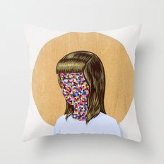 6x6 Woman Throw Pillow