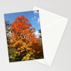 Red, Orange, Yellow Tree Color Photography Stationery Cards
