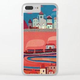 warm village Clear iPhone Case