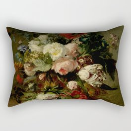 "Harmanus Uppink ""Still Life with Flowers"" Rectangular Pillow"