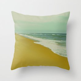 A Fisherman and the Sea Throw Pillow