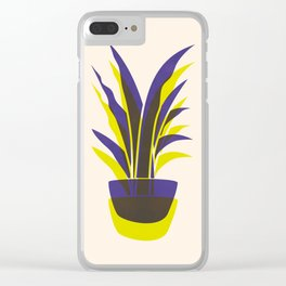Spiky Plant (two colour mix) Clear iPhone Case