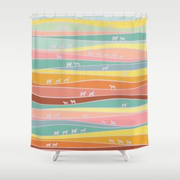 over the hills we go Shower Curtain