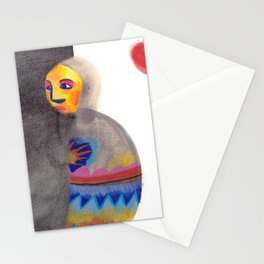 Red Moon in a Wrap Stationery Cards
