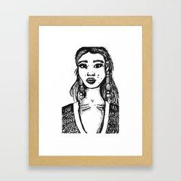 Ink Portait Framed Art Print