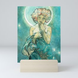 Alphonse Mucha Moonlight Art Nouveau Mini Art Print