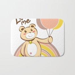 Bear For Love Bath Mat