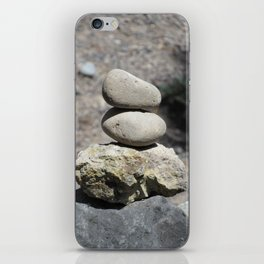 Balance Stacked Rocks Yellowstone National Park iPhone Skin