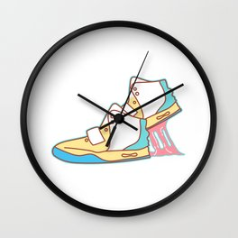 Sneakers Chewing Gum Wall Clock