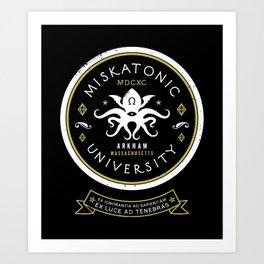 Miskatonic University  Art Print