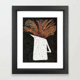 Autumn Still Life with Pampas Grass Framed Art Print
