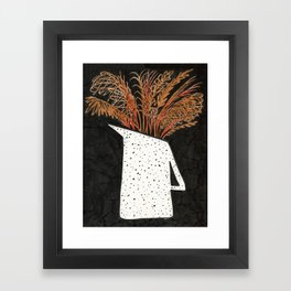 Autumn Still Life with Pampas Grass Framed Art Print