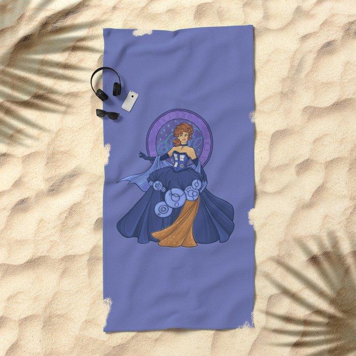 Gallifreyan Girl Beach Towel