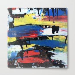 Colorful Art Abstract Paintings Modern Watercolor Robert R Splashy Art Metal Print