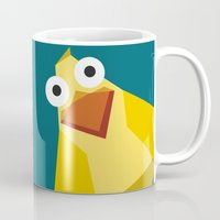 duck Mugs featuring Duck by Fairytale ink