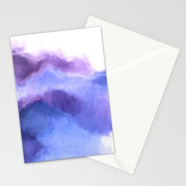 Purple Sky, White Light - abstract Stationery Cards