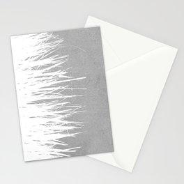 Concrete Fringe White Side Stationery Cards