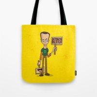 bazinga Tote Bags featuring Bazinga by maykel nunes