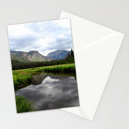 Watercolor Landscape, East Inlet Trail 01, Colorado Stationery Cards