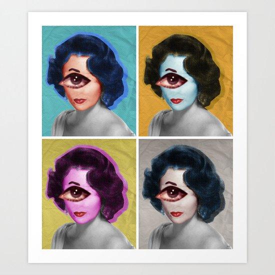 LizT Mix Collage x4 Art Print