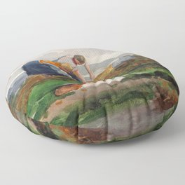 Winslow Homer1 - The Mussel Gatherers - Digital Remastered Edition Floor Pillow