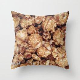 CARAMEL POPCORN Throw Pillow