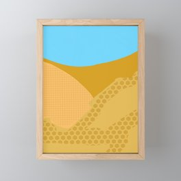 Orange blue sandy zoom Framed Mini Art Print