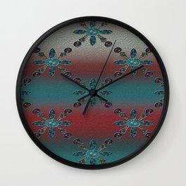 Teal Blue Redwood Wall Clock