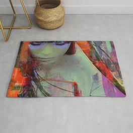 Touch right in the heart by your love Rug