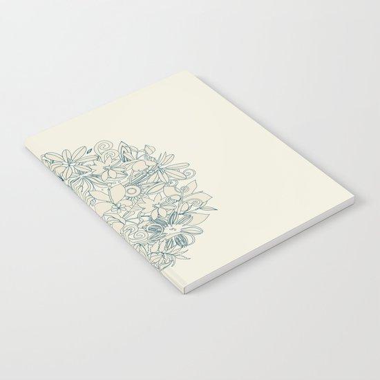 Denim flower circle Notebook
