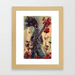 Eternal Guitarist playing for a ROSE Framed Art Print