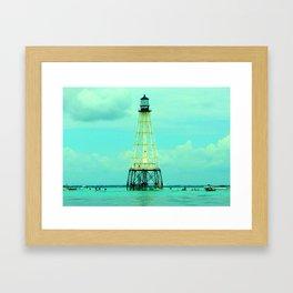 Alligator Reef Light Framed Art Print