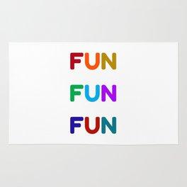 fun fun fun colorful design Rug