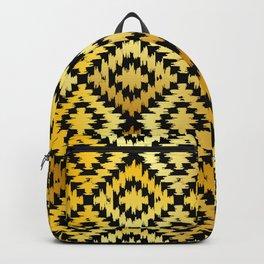 Turkish carpet gold black. Patchwork mosaic oriental kilim rug Backpack