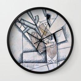 Juan Gris - Digital Remastered Edition - The Smoker - Original White Wall Clock
