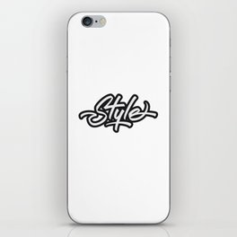 Style Lettering iPhone Skin