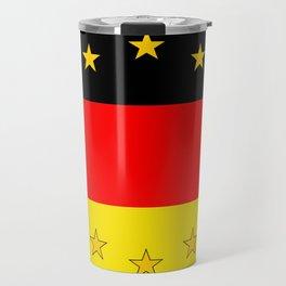 German European Union Flag Travel Mug