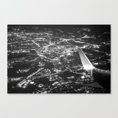 Fly Over Cities Canvas Print