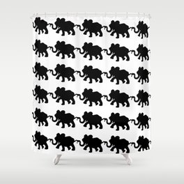 Elephant Walk B&W Shower Curtain