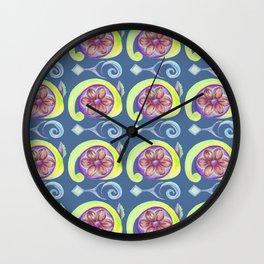 Snail Flower Wall Clock