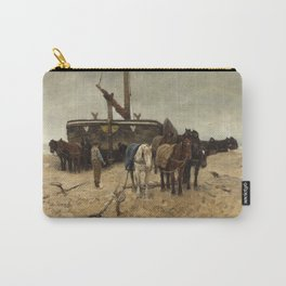 Anton Mauve - Fishing boat on the beach, 1882 Carry-All Pouch