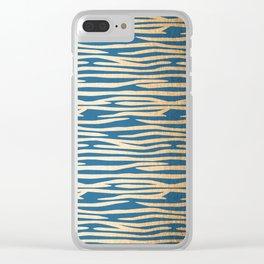 Zebra - Orange Sherbet Shimmer on Saltwater Taffy Teal Clear iPhone Case