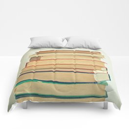 Stack of Books Comforters