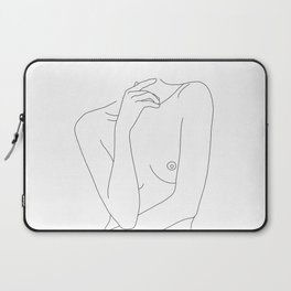 Woman's body line drawing - Cecily Laptop Sleeve