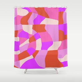 faye patchwork Shower Curtain
