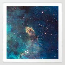 Space Nebula, A View of Astronomy, Stars, Galaxy, and Outer space  Art Print