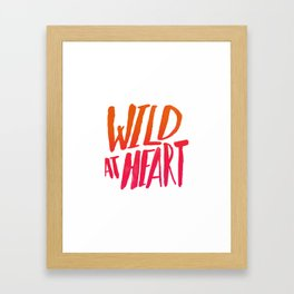 Wild At Heart x Typography Flame Ombre Framed Art Print