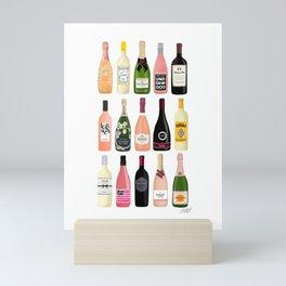 Wine & Champagne Bottles Mini Art Print